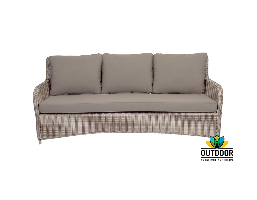 Hampton 3 seater lounge outdoor furniture northside for Outdoor furniture 3 seater