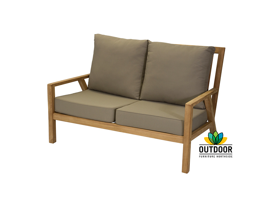 Oasis 2 seater sofa oyster outdoor furniture northside for Outdoor furniture 2 seater
