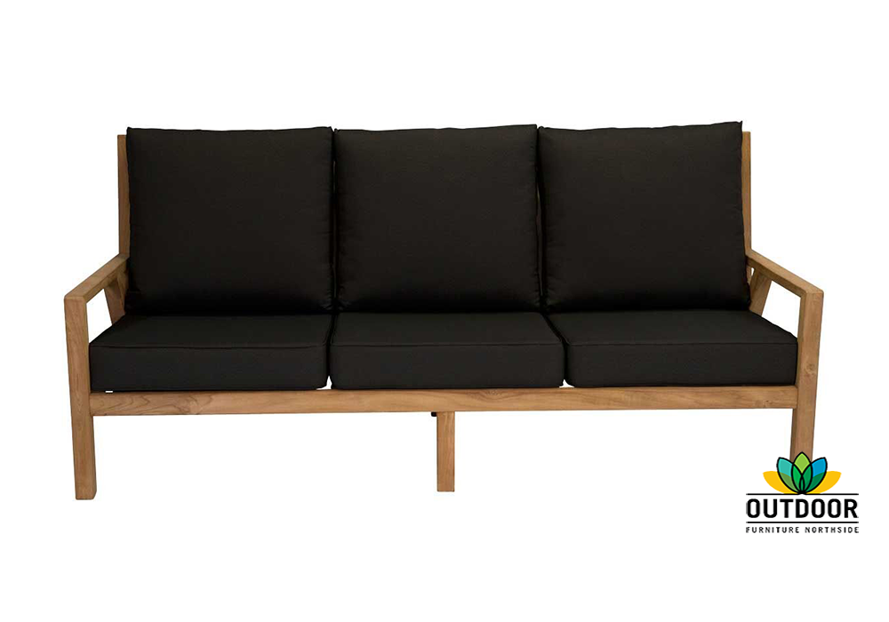 Oasis 3 Seater Sofa Liquorice Outdoor Furniture Northside