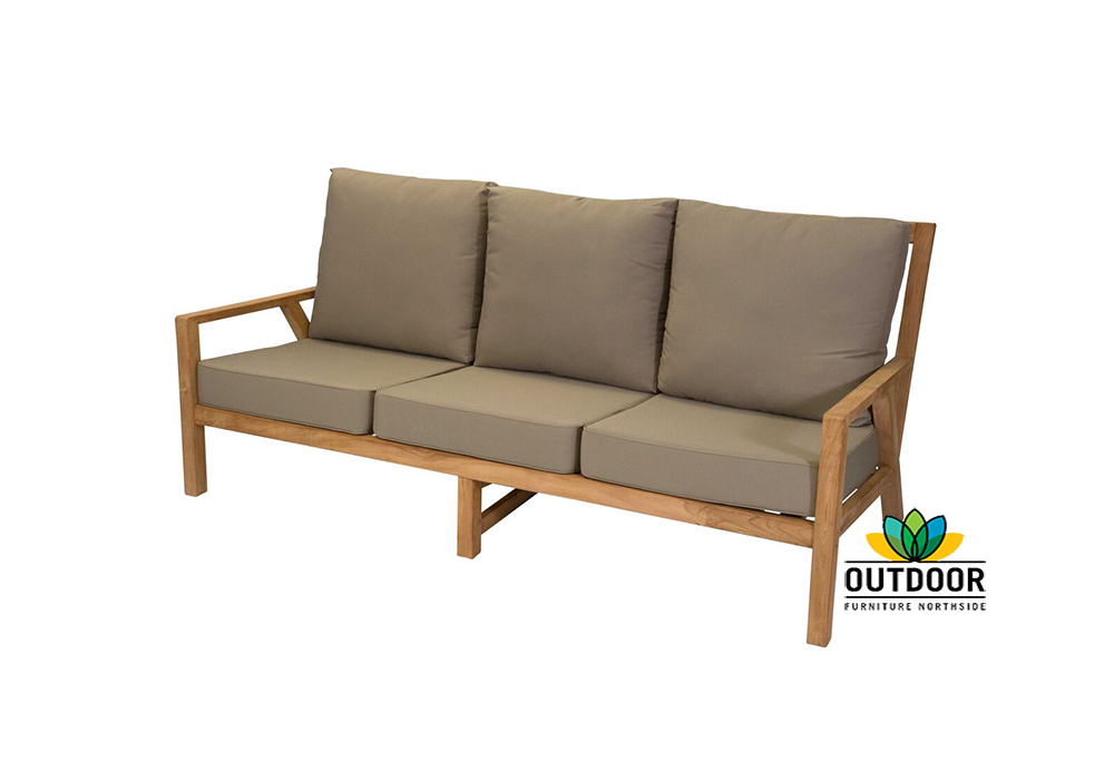 Oasis 3 Seater Lounge Oyster Outdoor Furniture Northside