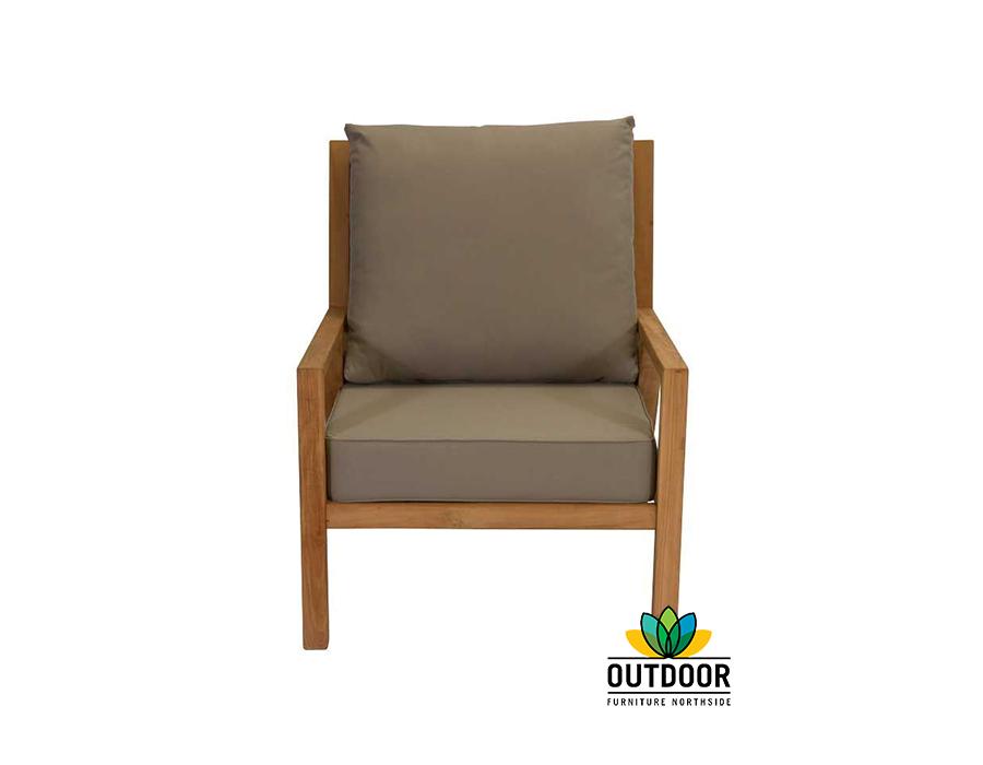 Oasis Single Lounge Oyster Outdoor Furniture Northside
