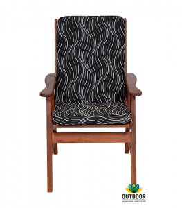 Chair Cushion Black Windsor