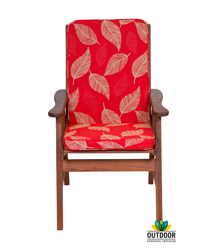 Chair Cushion Camburi Red Outdoor Furniture Northside