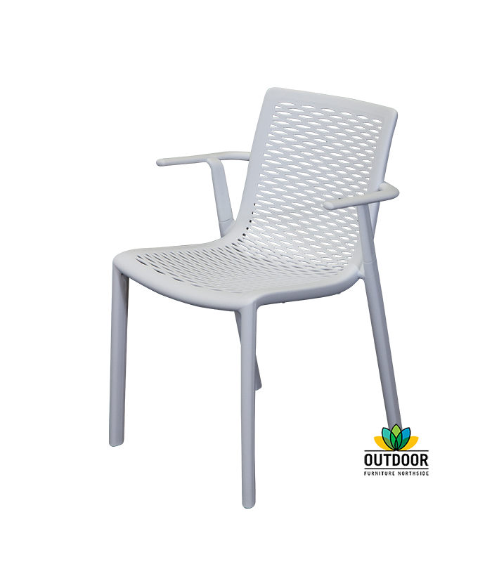 Netkat Arm Chair White Outdoor Furniture Northside