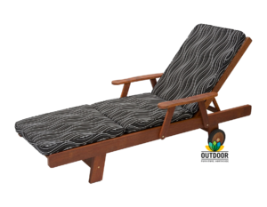 Sunlounger Cushion Black Windsor