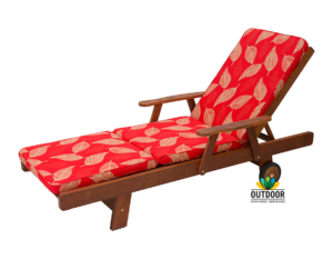 Sunlounger Cushion Camburi Red