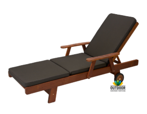 Sunlounger Cushion Charcoal