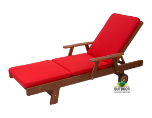 Sunlounger Cushion Red