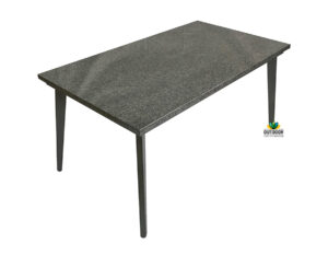 Tapered leg stone top table
